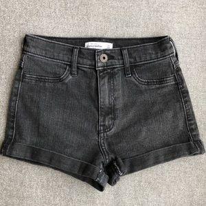 NEW Abercrombie Kids black denim shorts w/stretch
